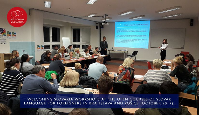 MIC IOM - Welcoming Slovakia - Welcoming Slovakia workshops at the Open Courses of Slovak Language for Foreigners in Bratislava and Košice