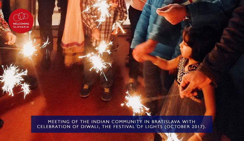 MIC IOM - Welcoming Slovakia - Meeting of the Indian community in Bratislava with celebration of Diwali