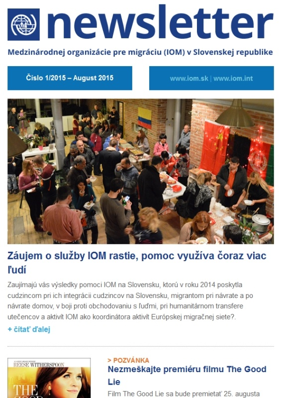 Publications - IOM Slovakia Newsletters